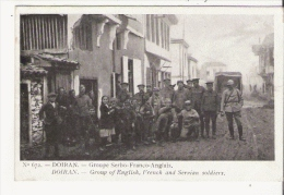 DOIRAN 672 GROUPE SERBO FRANCO ANGLAIS (BELLE ANIMATION) 1916 - Macédoine