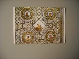 TUNISIE MUSEE NATIONAL DU BARDO MOSAIQUE LE GENIE DE L'ANNEE ...LES QUATRES SAISONS - Tunisia