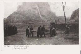 ENTERREMENT SERBE 642  1916 - Serbie