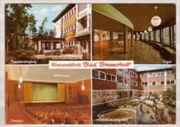Bad Bramstedt , Rheumaklinik , Mehrbildkarte , Theatereingang - Foyer - Theater - Haus Süd Innenhof - Bad Bramstedt