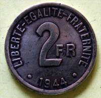 2 F  1944 Laiton - I. 2 Francs