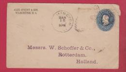 USA   //   Entier Postal  //   De Wilmimgton  //   Pour Rotterdam  //   28 Janv 1885 - 1901-20