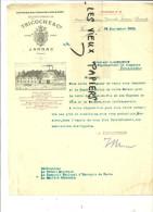 16 - Charente - JARNAC - Facture TRICOCHE - Eaux-de-vie Et Cognacs  – 1919 - REF 2B - France