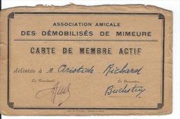 GUERRE 1939 1945 Les Démobilisés De 21 Mimeure - Documents
