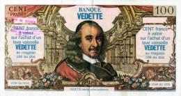 PUBLICITE  -  LAVE VAISSELLE VEDETTE - BON DE 100 FRANCS  ( MAGASIN A ST RAPHAËL ET COGOLIN VAR ) - Publicités