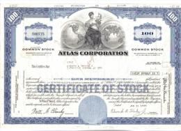 Atlas Corporation 1973+ Daryl Industries Inc 1952 + Pan American World Airwais Inc 1967 Certificate Of Stock C.1557 - Azioni & Titoli
