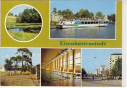 """EISENHÜTTENSTADT - MS """"Friedensgrenze""""  Mehrbildkarte - Eisenhuettenstadt"""