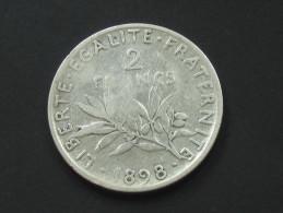2 Francs  SEMEUSE 1898  **** EN ACHAT IMMEDIAT ****