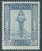 1924-29 LIBIA PITTORICA 25 CENT MNH ** - ED683 - Libya