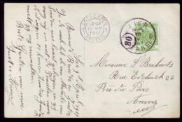 Belgie - Lier - Prentkaart - Stempel Lier D 10-IV-1911 - Marcophilie