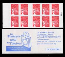 France Carnet N° 3419-C16** 10 Marianne Du 14 Juillet TVP Rouge Avec RF 3419/II La Boutique Web Du Timbre - Booklets