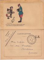 """GUERRE 14 / 18 - Carte Lettre FM Avec Dessin D´après HENSI - Cad """" Trésor Et Poste * 211 * - Facteur - - Marcophilie (Lettres)"""