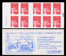 France Carnet N° 3419-C17** 10 Marianne Du 14 Juillet TVP Rouge Avec RF 3419/II La France A Voir Portrait De Régi Numéro - Booklets