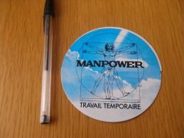 Autocollant - MANPOWER TRAVAIL TEMPORAIRE - ETT - Autocollants