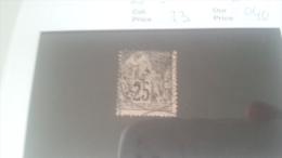 LOT 216149 TIMBRE DE COLONIE GUYANE OBLITERE N�23 VALEUR 40 EUROS