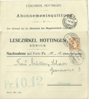 "NN Karte  ""Lesezirkel Hottingen, Zürich""           1908 - Briefe U. Dokumente"