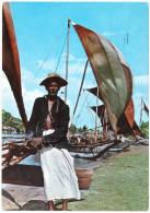 SRI LANKA (CEYLON) - FISHERMEN WITH FISHING BOATS/NEGOMBO / THEMATIC STAMPS-SCOUTING GIRL GUIDES - Sri Lanka (Ceylon)