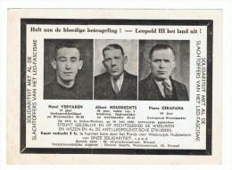 Koningskwestie Soldaten Slachtoffers Van Het LEO-Fascime   Steun Voor De Weduwen Anti Leopoldistische Strijders - Partis Politiques & élections