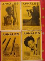 4 N° De La Revue Les Annales De 1937. Byrd Ninon De Lenclos Wells Gibraltar Causses Mandchourie Froissart Churchill - Journaux - Quotidiens