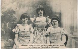 CHALON SUR SAONE .... FETE DU CARNAVAL EN 1909 - Chalon Sur Saone