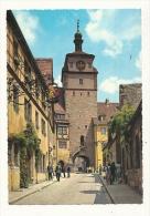 Cp, Allemagne, Rothenburg, Georgengase Und WeiBer Turm - Rotenburg