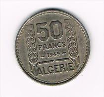 ¨ ALGERIE  50 FRANCS  1949 - Algérie