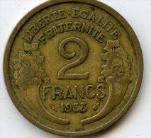 France 2 Francs 1938 - Frankreich