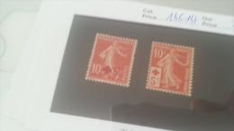 LOT 216314 TIMBRE DE FRANCE NEUF* N�146/147 VALEUR 46 EUROS