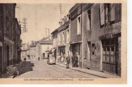 Secondigny-en-Gâtine.. Secondigny.. Animée.. Rue Principale.. Avec Gendarmes..café.. Voiture - Secondigny