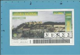 LOTARIA NACIONAL - 5.ª ORD. - 31.01.2000 - CASTELO DE S. JORGE - Portugal - 2 Scans E Description - Billets De Loterie
