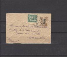 Indochine - Entier Postal Du N° 41 + N° 128 - Lettre Entière Voyagée  Pour Marseille    - 1929 - Lettres & Documents