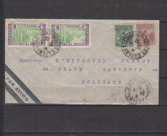Guayane  - N° 55 - 106  Et  130 X2 Obli.S/Lettre Entière Voyagée Pour Bordeaux - 1932 - Brieven En Documenten