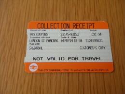 Coupon TRAIN LONDON londres
