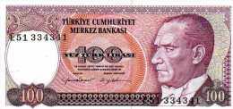 TURKEY 100 Lira (1984) P. 194 B - GEM UNC NEUF - Turchia