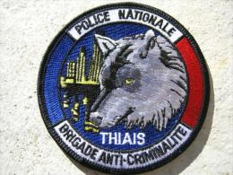 INSIGNE TISSUS PATCH POLICE NATIONALE DE THIAIS ETAT EXCELLENT