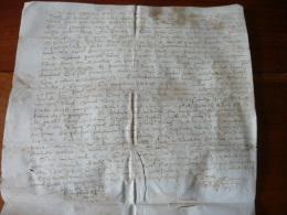 Manuscrit Parchemin Velin XVIe Voire Fin XVe . A Dechiffrer . 25,4 X 27  Cm - Manuscritos