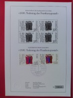 "1989 Joint Germany / Ireland - 1300th Anniv. Martyrdom ""Frankish Apostles"" German Joint FDC Blackprint (Irish Cancel) - Emissions Communes"