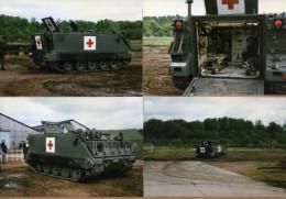 6 Photos Armée Belge Blindé Ambulance M113 - Militaria