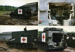 5 Photos Armée Belge Blindé Ambulance - Militaria