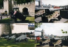 4 Photos Canon Tour De Londres - Militaria