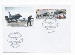 13824 - MARINE NATIONALE - 100 Ans De L'Aéronautique à ROCHEFORT (2010) LISA PRIORITAIRE - Postmark Collection (Covers)