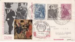 BELGIUM REGISTERD COVER FDC COB 1125/27 BRUXELLES VERS URFT ALLEMAGNE - 1951-60