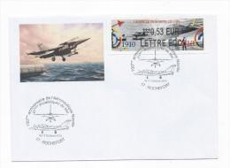 13825 - MARINE NATIONALE - 100 Ans De L'Aéronautique à ROCHEFORT (2010) LISA LETTRE ECO - Postmark Collection (Covers)