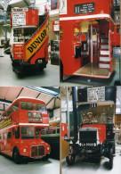 4 Photos Bus Autobus à étage Anglais - Non Classés