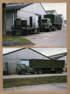 2 Photos Armée Belge Camion Remorque - Militaria