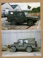 2 Photos Armée Belge Jeep Iltis - Militaria