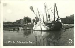 EGYPTE ALEXANDRIA ALEXANDRIE MAHMOUDIAH CANAL GROS PLAN SUR FELOUQUE  EDIT. TPS 41 ECRITE CIRCULEE TP EGYPTIENS - Alexandrie