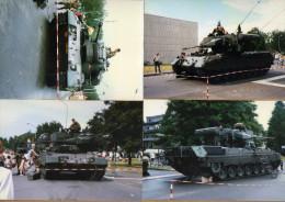 4 Photos Char Léopard Antiaérien - Militaria