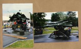 2 Photos Missile Antiarien Sur Remorque - Militaria