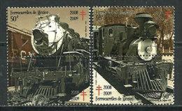 Mexique.Anciennes Locomotives à Vapeur Mexicaines , 4 T-p Neufs ** - Treinen